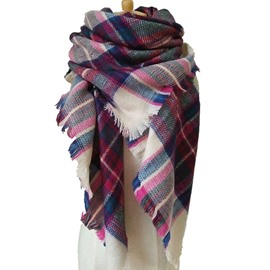 Burst Fashion Models Women's Favorite Lattice-Like Cashmere Square Scarves