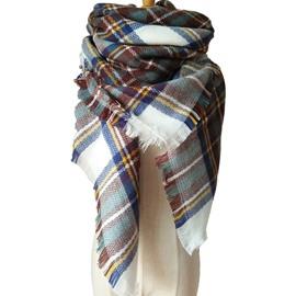 Women's Fashion Lovely Contrast Color Design Cashmere Warm Square Scarves
