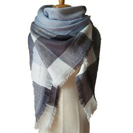 Fashion Popularity Contrast Color Design Cashmere Warm Charming Square Scarves