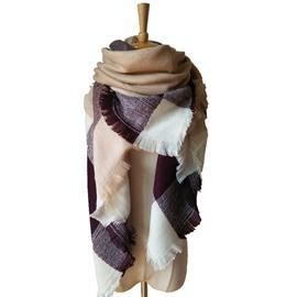 Fashion Popularity Contrast Color Design Cashmere Warm Square Scarves