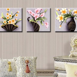 Pretty Wonderful Flowers Bloom 3-Piece DIY Diamond Sticker