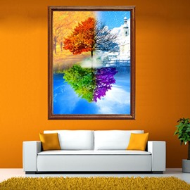 Amazing Tree in Four Color of Season DIY Diamond Stickers