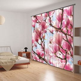 Elegant Mangnolia Flower Energy Saving 3D Curtain