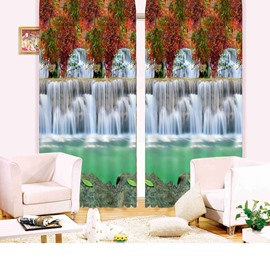 Beautiful Waterfall Living Room&Bedroom 3D Blackout Curtain