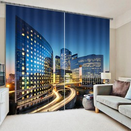 Modern City Energy Saving 3D Blackout Curtain