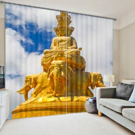 Vivid 3D Digital Printing Polyester Two Pieces Curtain
