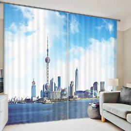 Hot Selling 3D Scenery Energy Saving Curtain