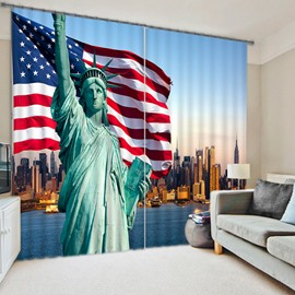 Statue of Liberty Printing 3D Blackout Curtain