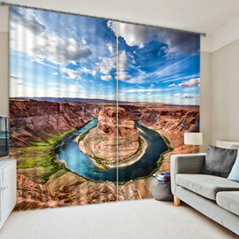 Stunning Horseshoe Bend Scenery Printing 3D Blackout Curtain