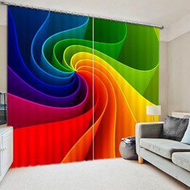 Unique Design and Colorful Eddy Printing Living Room Custom 3D Blackout Curtain
