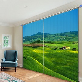 Wonderful Vast Prairie Printed 3D Curtain