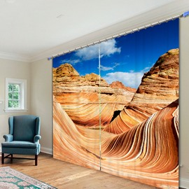 Beautiful Desert Scenery of Arizona Printed 3D Curtain