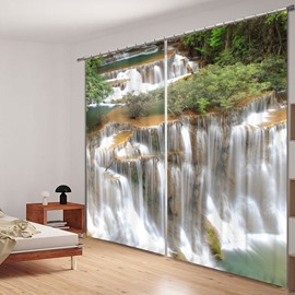 Breathtaking Nature Waterfall 3D Printing Polyester Curtain