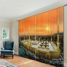 Magnificent Building of Prague 3D Printing Polyester Curtain