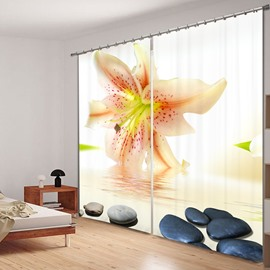 Vivid Lily on the Water 3D Printing Polyester Curtain