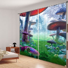 Fantastic Fairyland 3D Printing Polyester Curtain