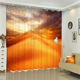 Splendid Desert Natural Beauty Living Room and Bedroom 2 Panels Decorative and Blackout Curtain