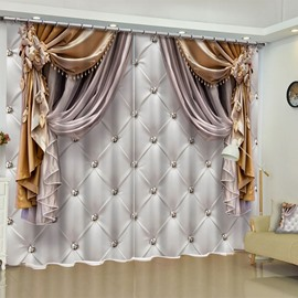 909f7a2a2d2683 51 3D Imitated Elegant Shading Cloth Printed Custom Curtain for Living Room