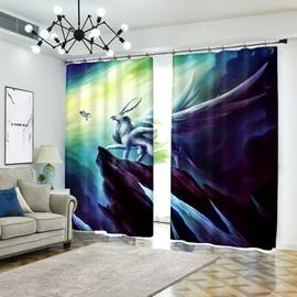 Creative Paints Oil Art Style 3D Curtain Drapes