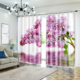 Pink Flower Series 3D Vivid Curtain Blackout for Different Rooms