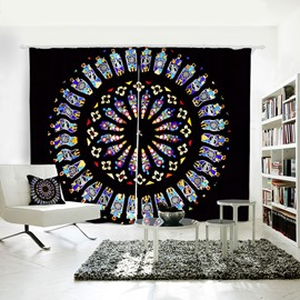 Vivid and Colorful Pattern 3D Printed Polyester Curtain