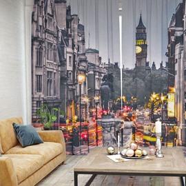 3D Blackout European Architectural Patterns Printed Curtain