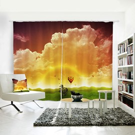 3D Blackout Scenery Sunset Pattern Polyester Curtain