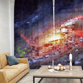 3D Mildew Resistant Mysterious Galaxy Pattern Printed Curtain
