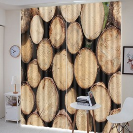 Beddinginn Creative 3D Wood Decoration Curtain