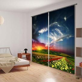 Beddinginn 3D Beautiful Scenery Decoration Modern Curtain