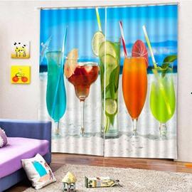 Beddinginn Beach Ultraviolet-Proof Modern Curtains/Window Screens