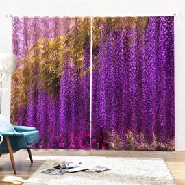 Beddinginn Ultraviolet-Proof Modern Floral Curtains/Window Screens