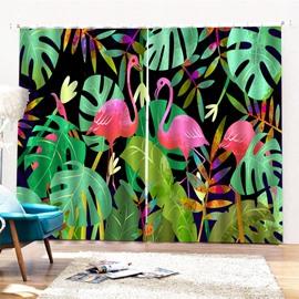 Beddinginn Flamingo Ultraviolet-Proof Creative Curtains/Window Screens