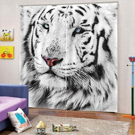 3D Beautiful Tiger Print Blackout and Decorative Curtains for Living Room Bedroom