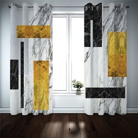Modern 3D Creative Curtain Blackout Decoration 2 Panels Drapes for Living Room Thick Shading Polyester for Good Privacy Heat Insulation and Windproof Environmentally Friendly Printing and Dyeing No use of Chemical Auxiliary
