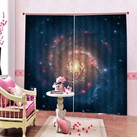 Modern 3D Print Galaxy Blackout Curtains Custom 2 Panels Drapes for Living Room Bedroom No Pilling No Fading No off-lining Polyester