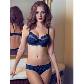 Floral Design Style Charming Color Match High Cost-Effective Bra Underwear Sets