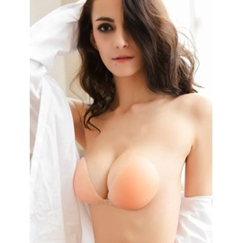 e55a93b100 54 Wings Reusable Strapless Self Adhesive Invisible Silicone Push-up Bra