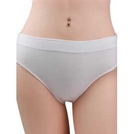 Comfy Soft Pure Color Streetching Cotton Panty