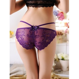 Sexy Seductive Side Straps Seamless Lace Underwear