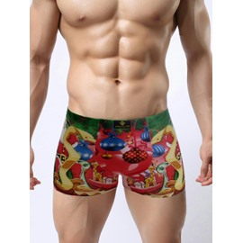 Hot Merry Christmas Series Popular With Festive Elements 3D Print Man's Briefs