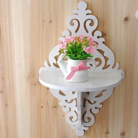 Wonderful Wood Plastic Plate 1-Piece Wall Shelves