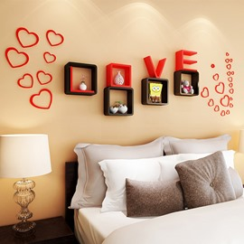Romantic Decorative Love Theme Wall Mounted Wall Shelf