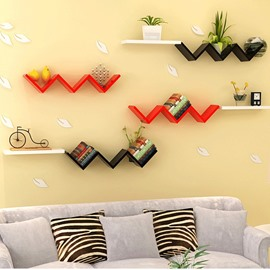 Creative W Shaped 1-Piece Wall Shelf