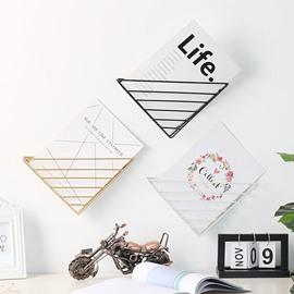 Triangular Bookshelf Iron Shelf Sitting Room Bedroom Wall Decoration Storage Holders & Racks