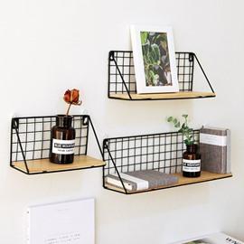 Kitchen Living Room Tableware Iron and Wood Storage Holders & Racks