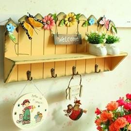 Dreamlike Butterfly Flower Rural Style Bathroom Hooks