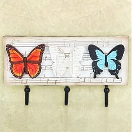Romantic Elegant European Rural Style Butterfly Note Decorative Hooks