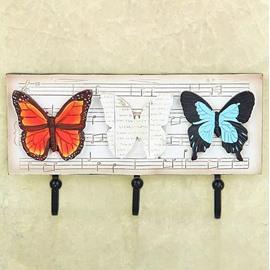 Romantic Elegant European Rural Style Butterfly Note Decorative Hooks