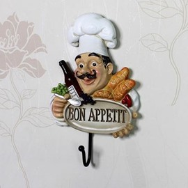 Classic and Retro Creative Resin Cooking Chef Wall Hook